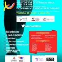Valencia será sede del XV Congreso Nacional de Psicología del Deporte del 30 de marzo al 2 de abril de 2016